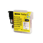 Cartouche Jet d'Encre Adaptable BROTHER yellow LC980/1100