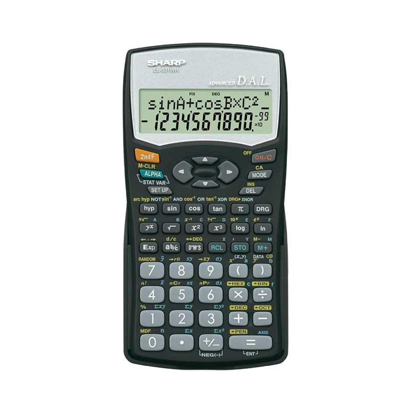 Calculatrice scientifique SHARP EL-531WH-BK