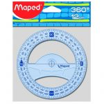 Rapporteur 12cm/360° maped geometric
