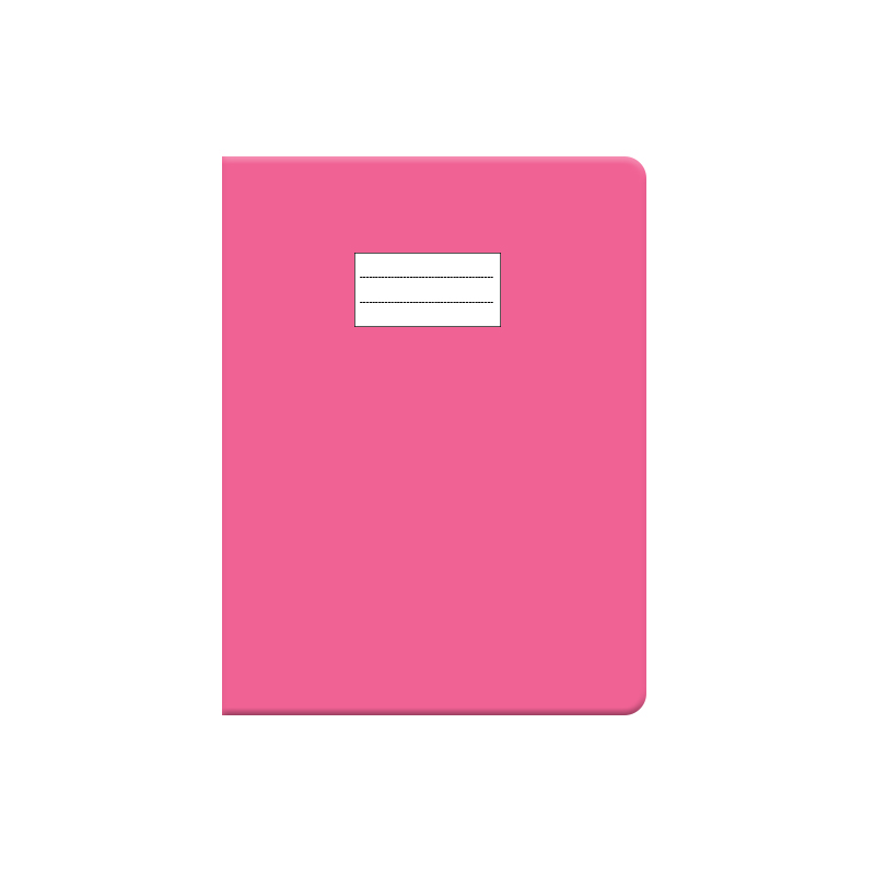 Protège cahier PM rose glossy