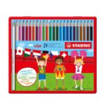 Crayons de 24 couleurs STABILO  color metal box