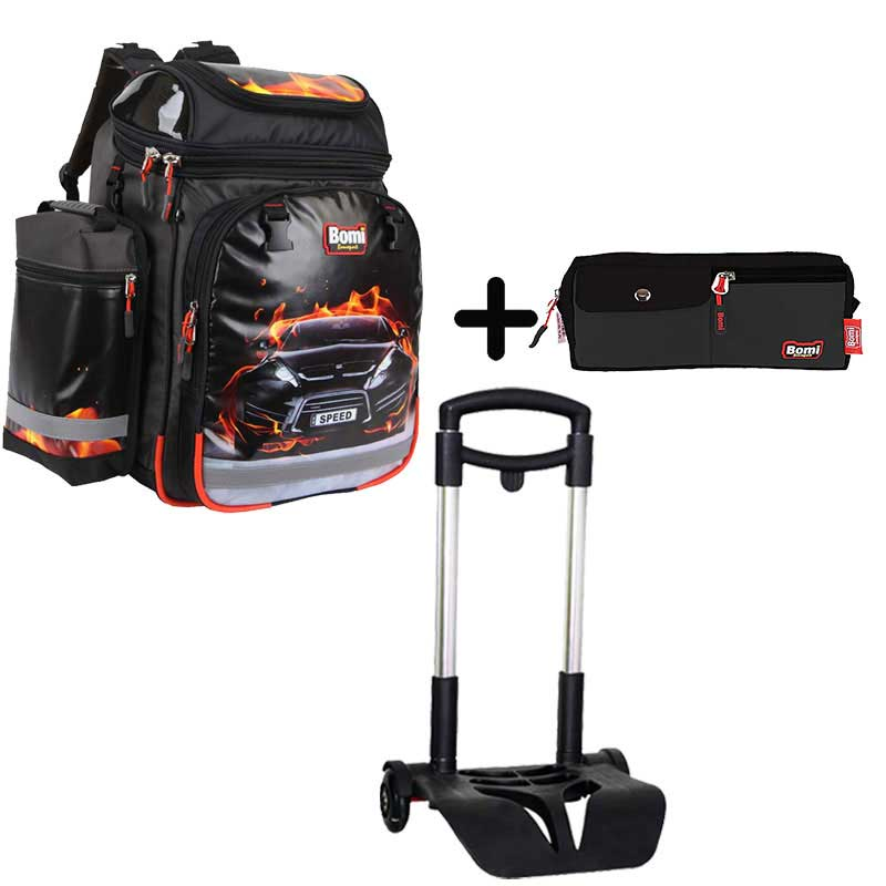 Pack BOMI-SPEED cartable SBH02 + chariot + trousse TS01