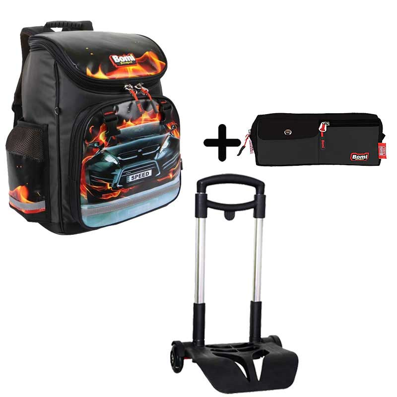 Pack BOMI-SPEED cartable SBL02 + chariot + trousse TS01