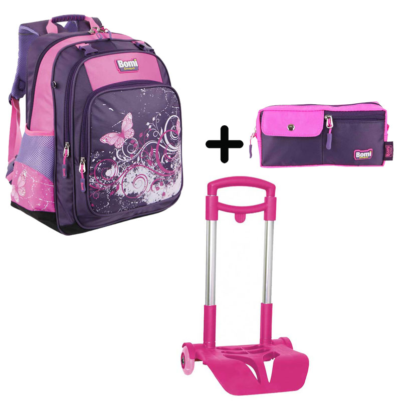 Pack BOMI-BUTTERFLY  cartable SB02+ chariot + trousse TS01