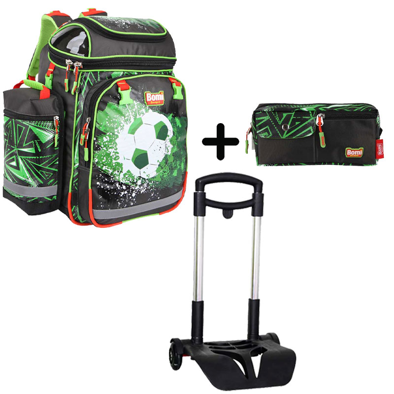 Pack BOMI-SOCCER  cartable SBH02 + chariot + trousse TS01
