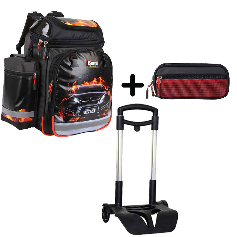 Pack BOMI-SPEED cartable SBH02 + chariot + trousse TS03