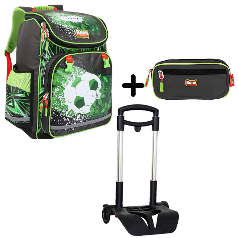 Pack BOMI-SOCCER  cartable SBL02 + chariot + trousse TS02