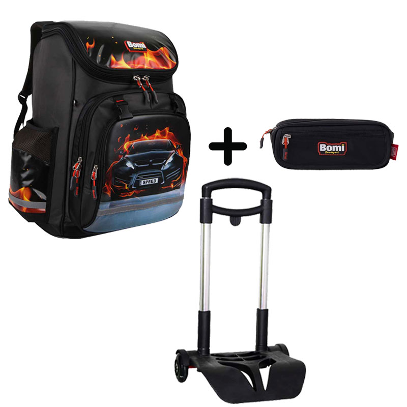 Pack BOMI-SPEED cartable SBL03 + chariot + trousse TS02