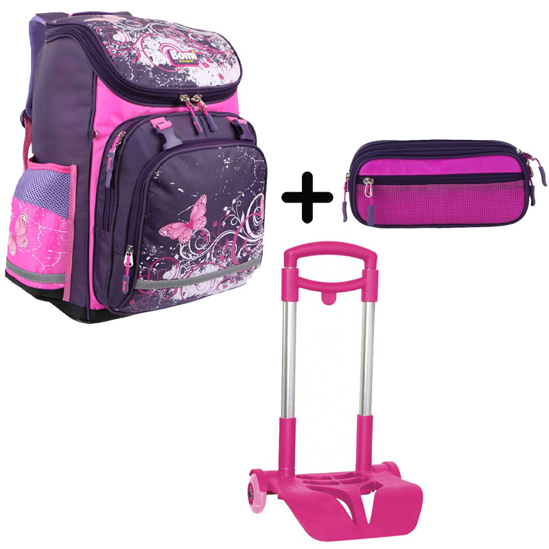 Pack BOMI-BUTTERFLY  cartable SBL03+ chariot + trousse TS03