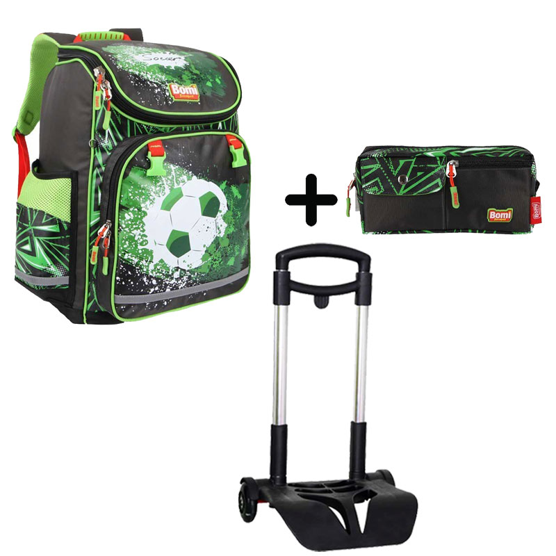 Pack BOMI-SOCCER  cartable SBL01 + chariot + trousse TS01