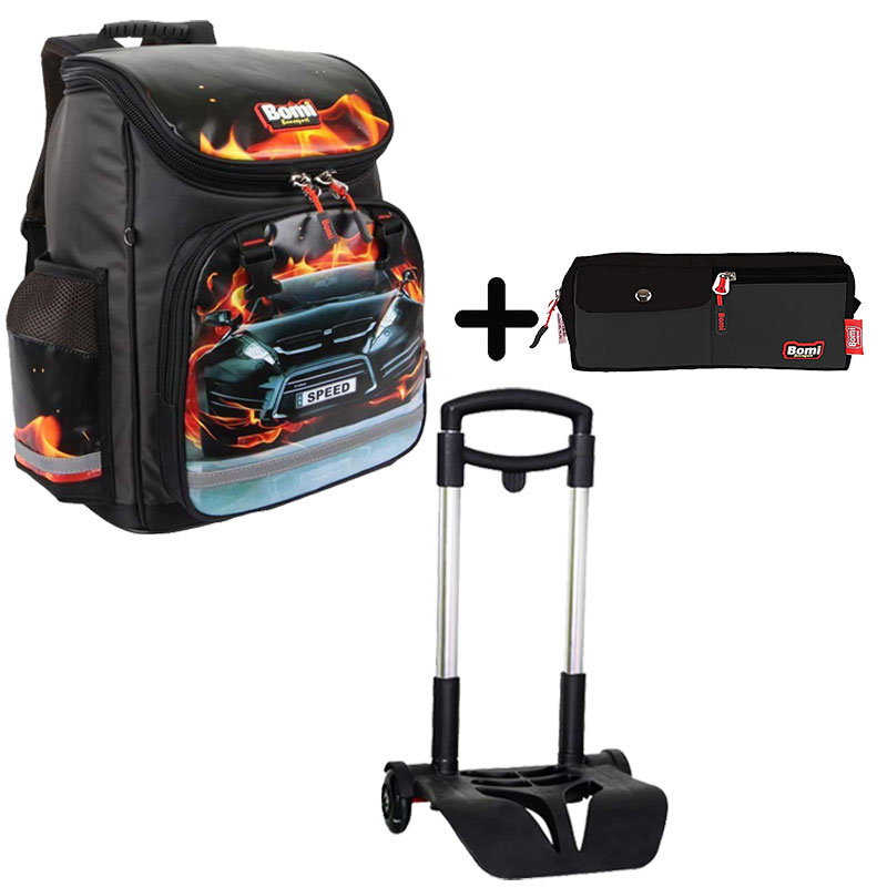 Pack BOMI-SPEED cartable SBL01 + chariot + trousse TS01