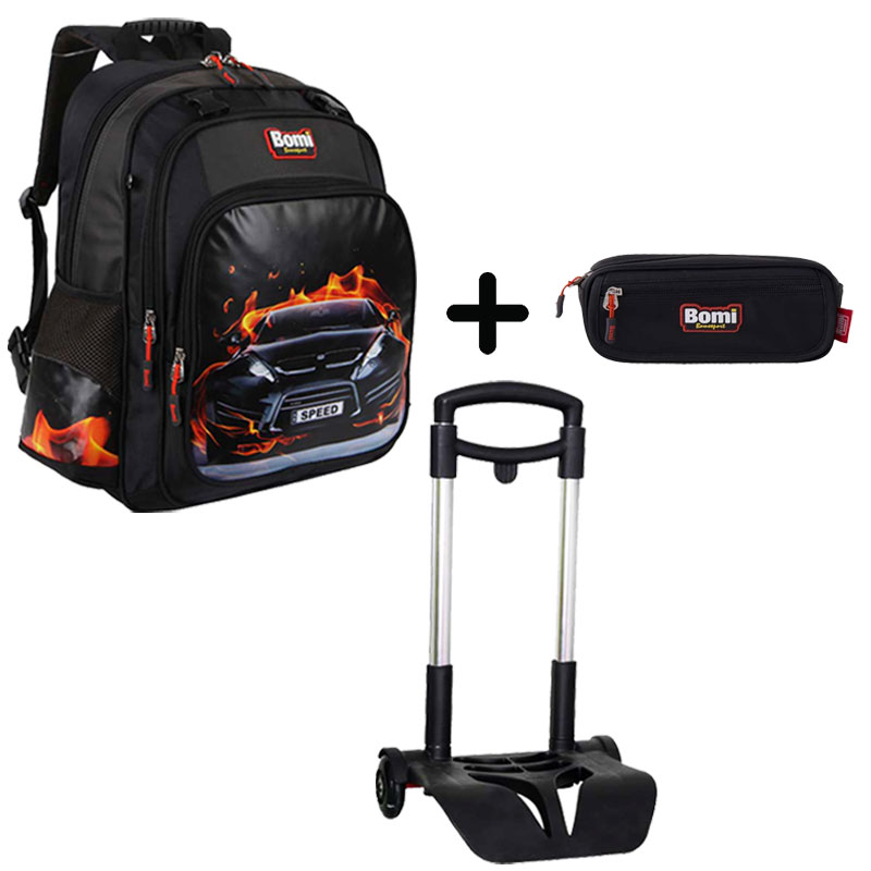 Pack BOMI-SPEED cartable SB02 + chariot + trousse TS02