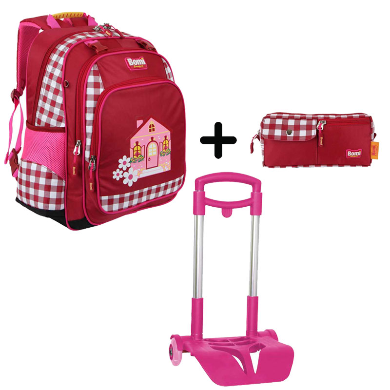 Pack BOMI-HOME cartable SB02 + chariot + trousse TS01