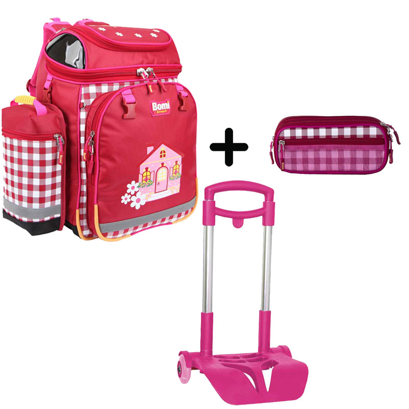 Pack BOMI-HOME cartable SBH02 + chariot + trousse TS03