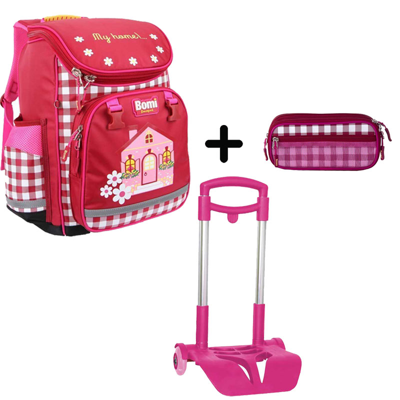 Pack BOMI-HOME cartable SBL01 + chariot + trousse TS03