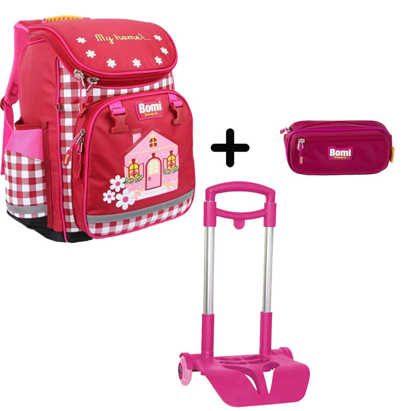 Pack BOMI-HOME cartable SBL02 + chariot + trousse TS02