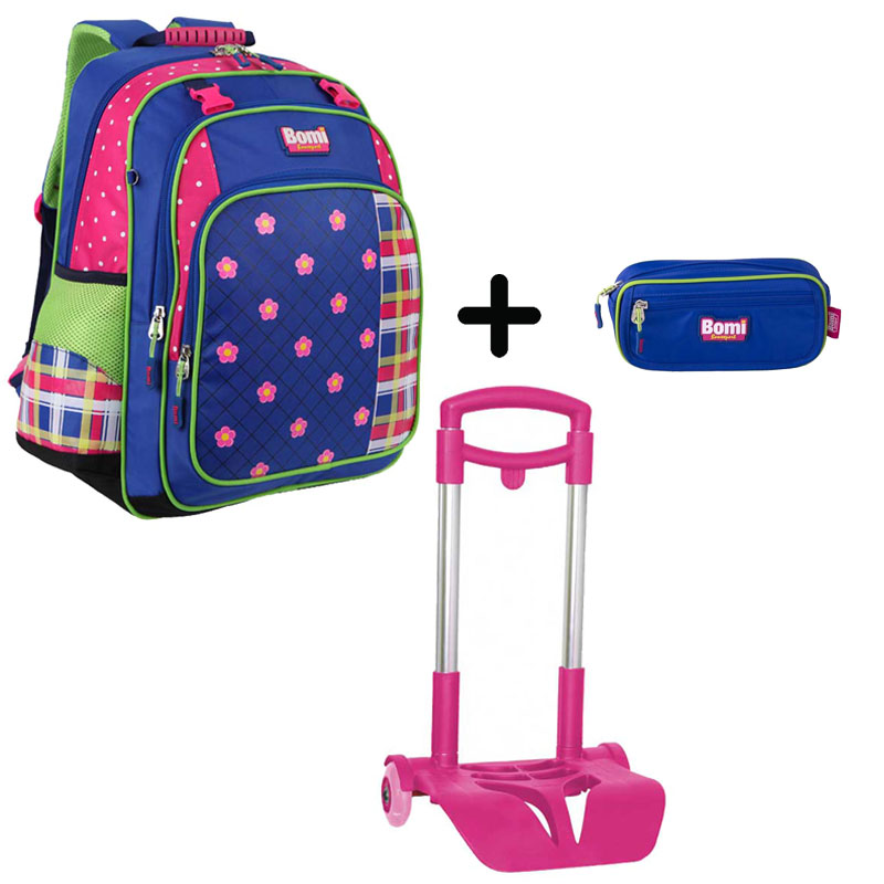 Pack BOMI-FlOWER cartable SB02 + chariot + trousse TS02