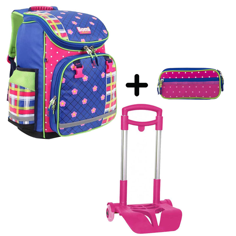 Pack BOMI-FlOWER cartable SBL01+ chariot + trousse TS03