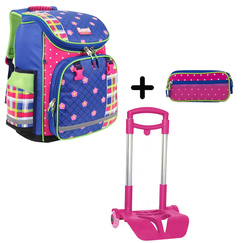 Pack BOMI-FlOWER cartable SBL02+ chariot + trousse TS03