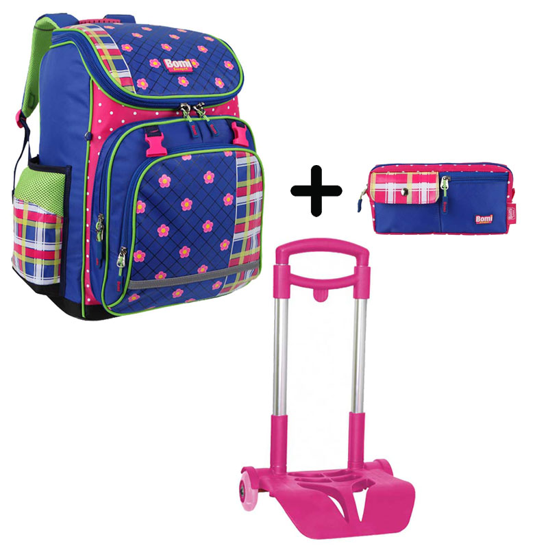 Pack BOMI-FlOWER cartable SBL03+ chariot + trousse TS01