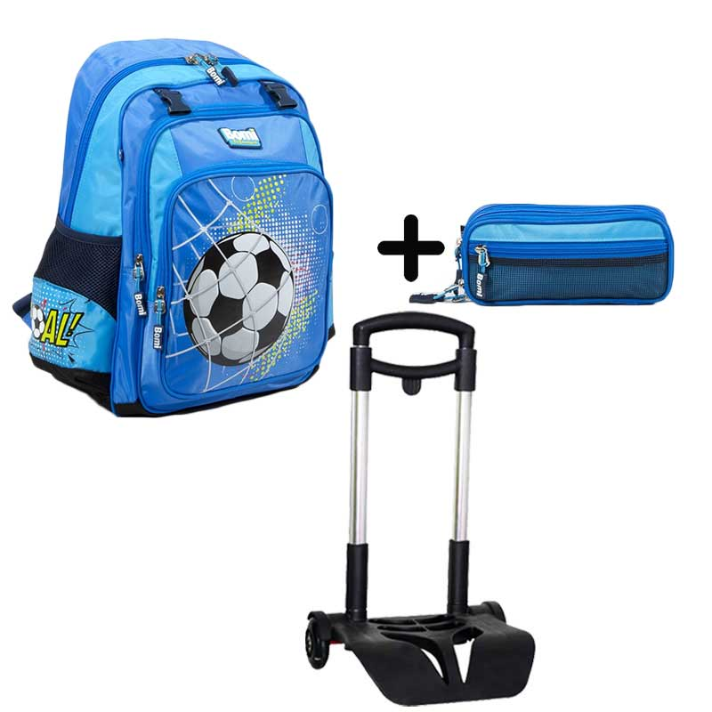 PACK BOMI-GOAL cartable SB02 + trousse TS03+ chariot