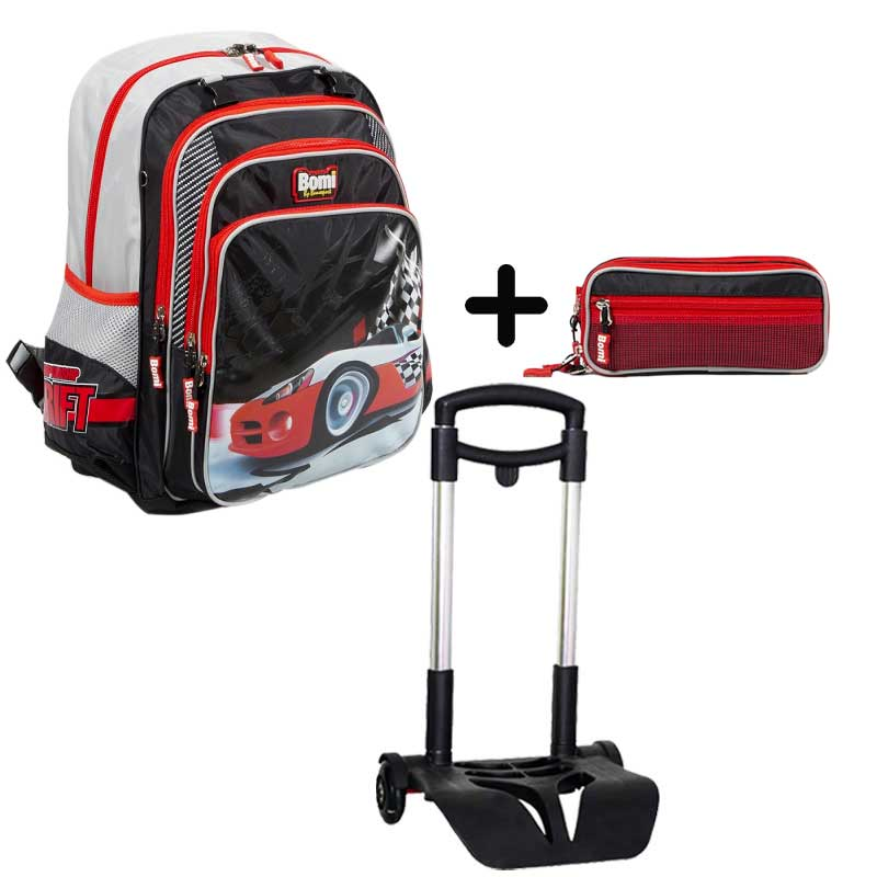 PACK BOMI-DRIFT cartable SB03  + trousse TS03+ chariot