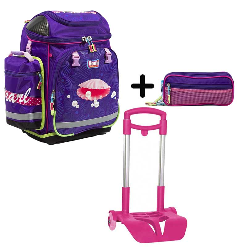 PACK BOMI-PEARL cartable SBH02 + trousse TS02 + chariot