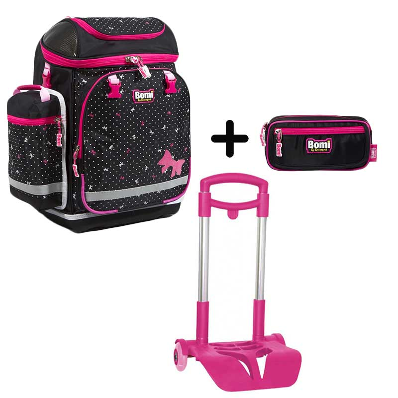 PACK BOMI-PINKY cartable SBH02 + trousse TS02+ chariot