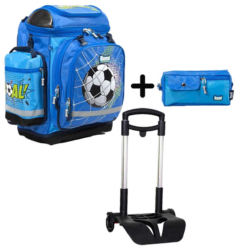 PACK BOMI-GOAL cartable SBH03 +  trousse TS01 + chariot
