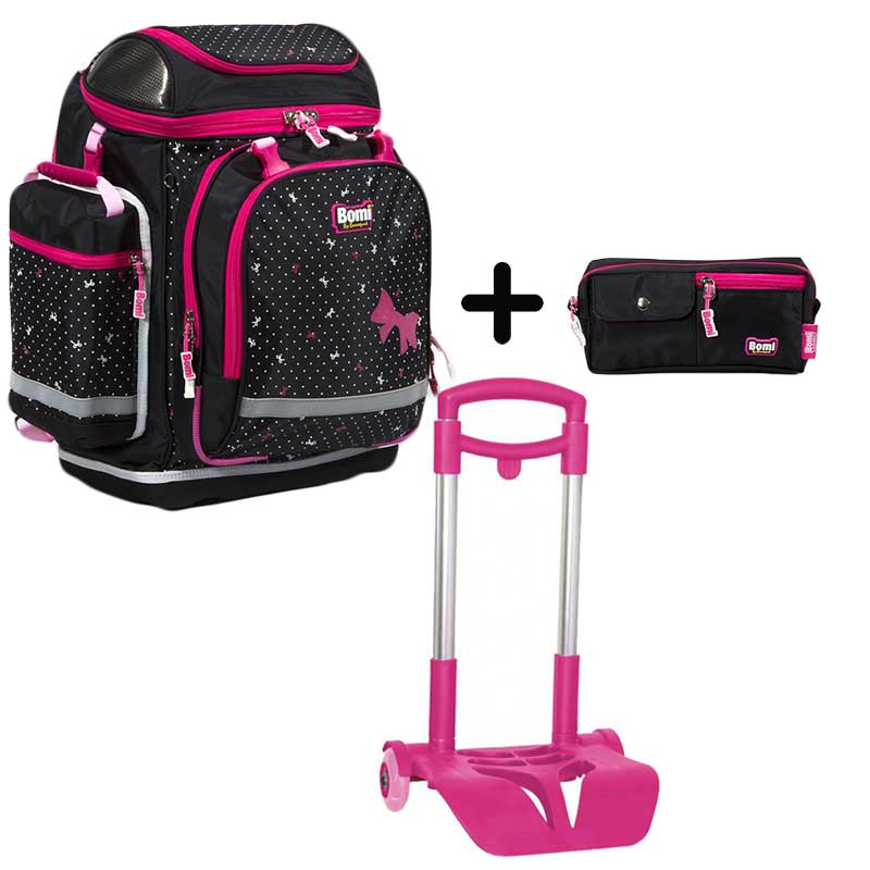 PACK BOMI-PINKY cartable SBH03+ trousse TS01 + chariot