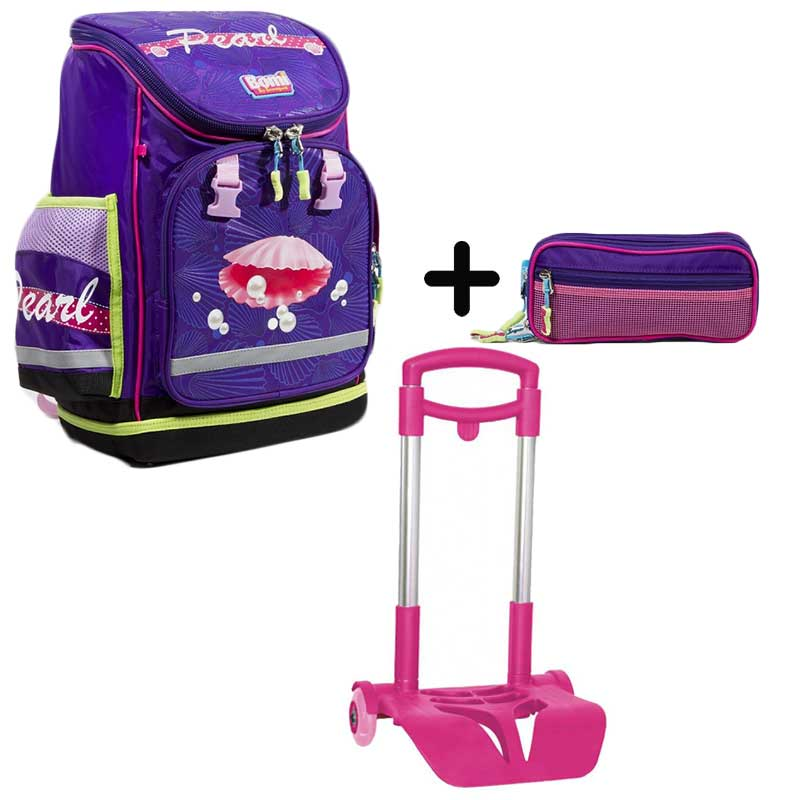 PACK BOMI-PEARL cartable SBL01  + trousse + chariot