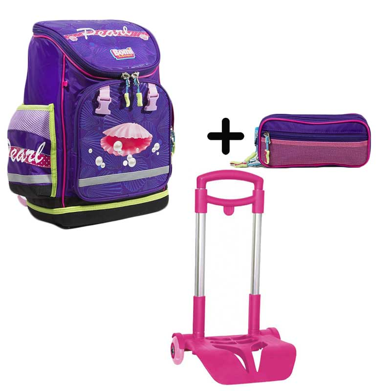 PACK BOMI-PEARL cartable SBL02  + trousse TS02+ chariot
