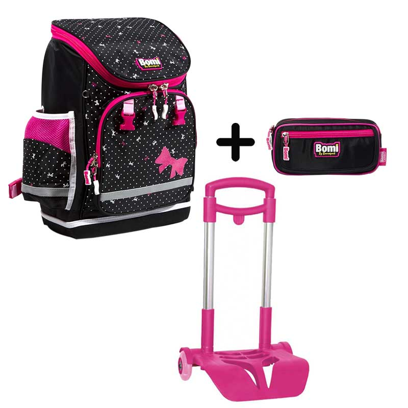 PACK BOMI-PINKY cartable SBL02 + trousse TS02+ chariot