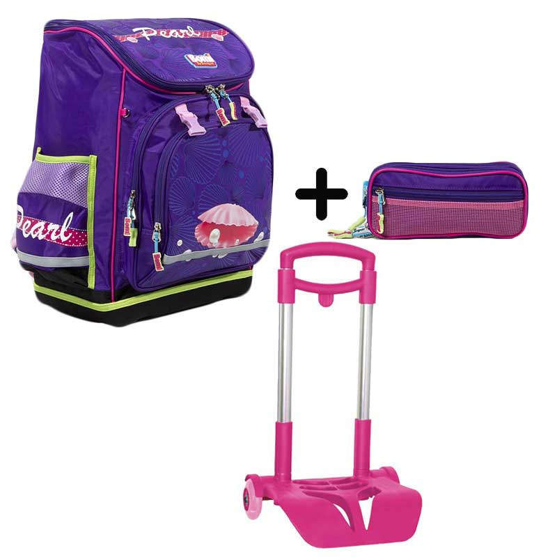 PACK BOMI-PEARL cartable SBL03+ trousse TS03 + chariot