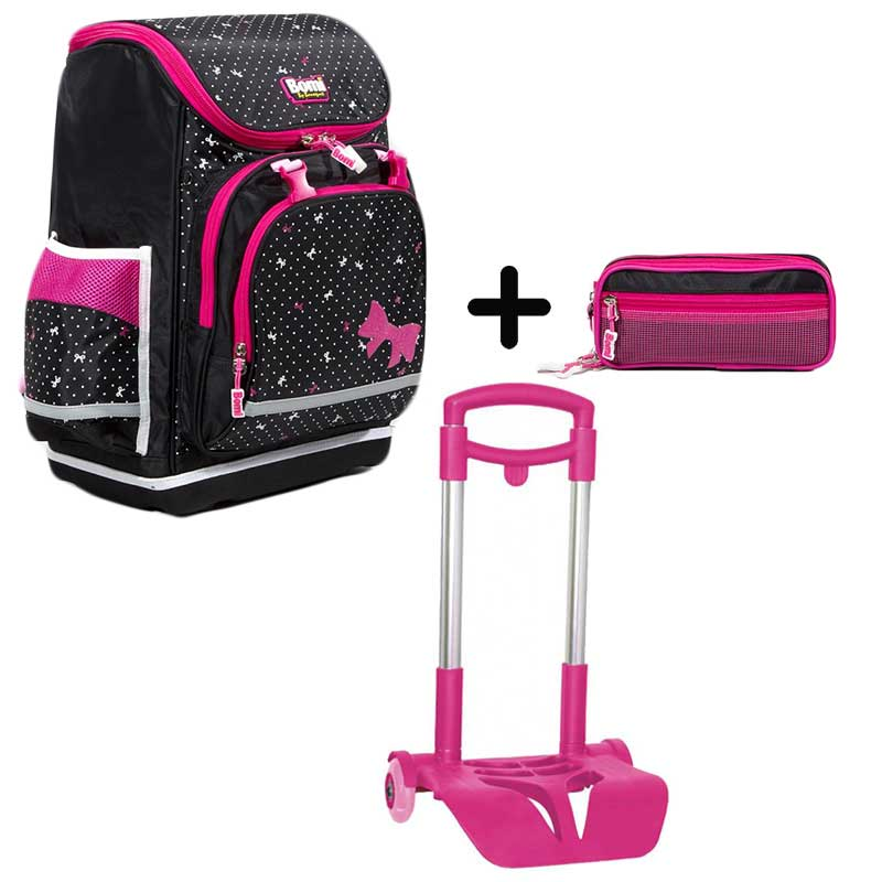PACK BOMI-PINKY cartable SBL03 + trousse TS03+ chariot
