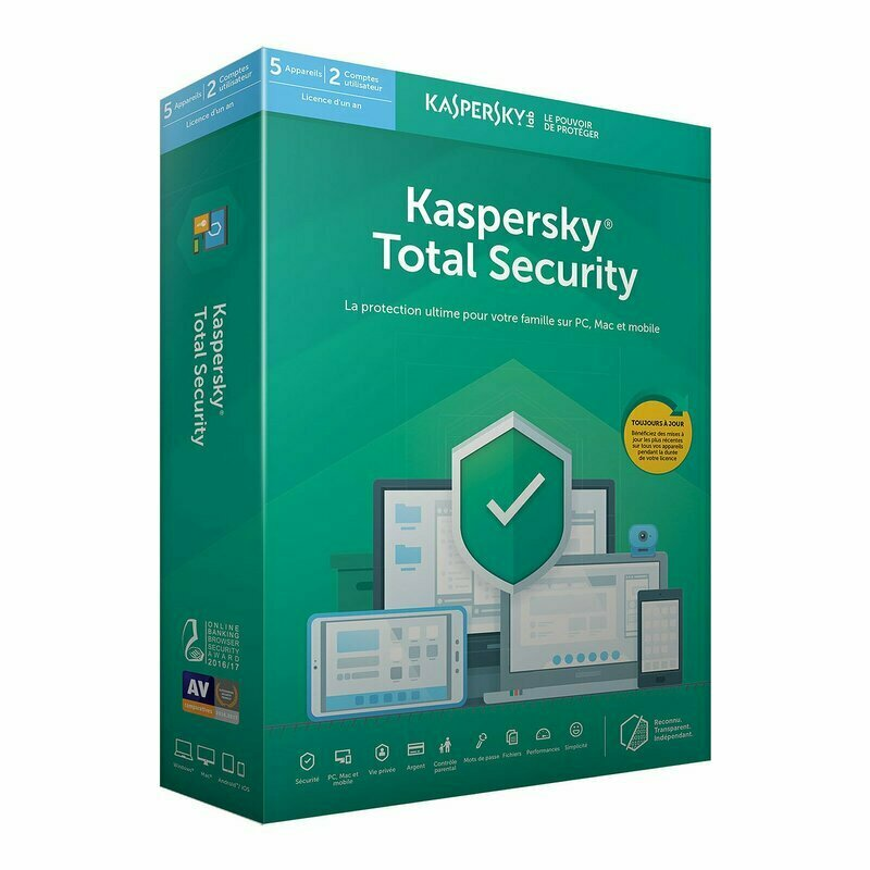 Kaspersky Total Security 2020 5 Postes