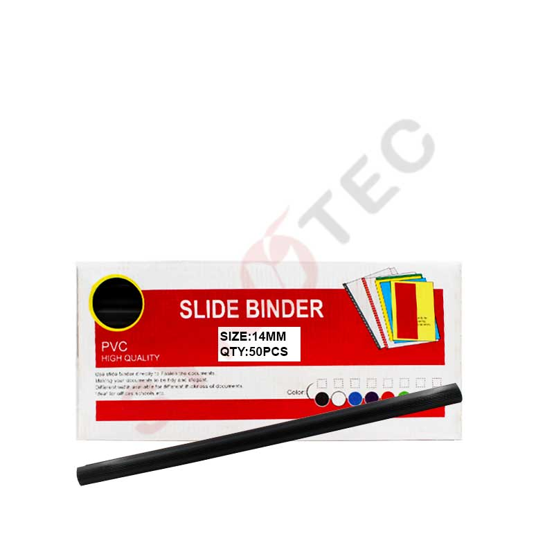 Paquet de 50 baguette noir 14mm SLIDE BINDER