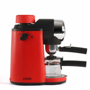 Machine à café pression rouge 800W LIVOO ( DOD159)